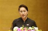 La présidente de l'AN, Nguyên Thi Kim Ngân, part pour la Chine
