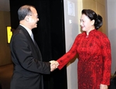La présidente de l'AN du Vietnam reçoit les dirigeants d'entreprises chinoises