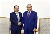 Le Premier ministre reçoit le ministre laotien de l'Intérieur