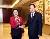 La présidente de l'AN encontre un dirigeant du Suzhou