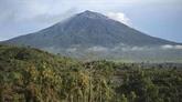 Avertissement de vol lors de l'éruption du volcan sur l'île de Sumatra