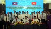 Quang Tri et des provinces laotiennes signent un accord de coopération 2020-2022