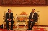 Une délégation du Parti en visite de travail au Cambodge