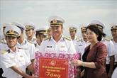 La vice-présidente de la République rencontre les cadres et soldats de la IVe Région navale