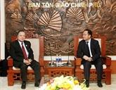Religion: Coopération intensifiée entre le Vietnam et le Laos