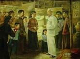 Exposition d'œuvres de plusieurs peintres célèbres sur le Président Hô Chi Minh