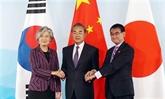 Chine, Japon et République de Corée s'engagent à élargir leur coopération