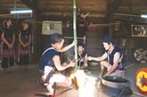 Cérémonie cultuelle de la nouvelle nhà rông des Bahnar