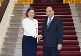 Le Premier ministre vietnamien reçoit l'ambassadrice d'Australie à Hanoï