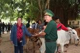 Don de vaches reproductrices à des agriculteurs pauvres vietnamiens et cambodgiens