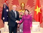 La présidente de l'AN vietnamienne rencontre le Premier ministre australien
