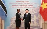 Entretien entre les ministres des Affaires étrangères du Vietnam et du Botswana