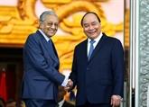 Vietnam et Malaisie conviennent d'approfondir leur partenariat stratégique