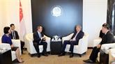 Hô Chi Minh-Ville encourage la coopération avec Singapour pour les start-ups et l'innovation