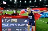 Athlétisme: Warholm et Benjamin sur une autre planète sur 400 m haies