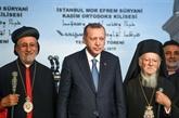 Erdogan pose la première pierre d'une église syriaque à Istanbul