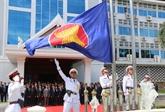 Cérémonie de lever du drapeau de l'ASEAN au Laos