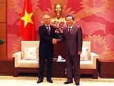 Le vice-président de l'AN Phùng Quôc Hiên reçoit un vice-président de la JICA