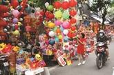 La rue Hàng Ma miroite lors du Têt Trung Thu