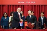 Clôture de la 37e réunion du Comité intergouvernemental Vietnam - Cuba