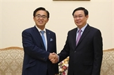 Un vice-Premier ministre reçoit le gouverneur de la préfecture japonaise d'Aichi