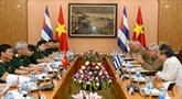 Le Vietnam et Cuba promeuvent leur coopération en matière de la défense