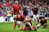Mondial de rugby : les Gallois passent leurs nerfs sur la Géorgie
