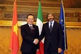 Le vice-président de l'AN Phùng Quôc Hiên rencontre les dirigeants italiens