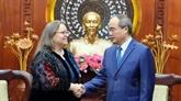 Nguyên Thiên Nhân reçoit la nouvelle consule générale des États-Unis