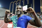 Athlétisme: Gatlin termine le 100m de Zagreb en grimaçant