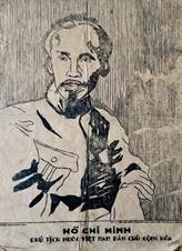 Remise du portrait du Président Hô Chi Minh