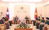 Le ministre vietnamien de la Défense reçoit l'ambassadeur du Laos à Hanoï