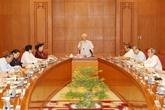 La réunion de la sous commission des documents du XIIIe Congrès du Parti