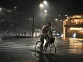 Un puissant typhon s'abat sur Tokyo, quelques dégâts, transports très perturbés