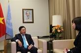 Le vice-PM Pham Binh Minh rencontre des dirigeants de plusieurs pays
