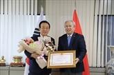 Un ancien gouverneur de Gyeongsangbuk à l'honneur