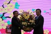 Long An : des responsables des provinces cambodgiennes adressent ses vœux du Têt