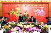La présidente de l'Assemblée nationale travaille avec des autorités de Dak Lak