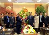 Une délégation laotienne formule des vœux du Têt à Thai Nguyên