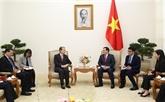 Le vice-Premier ministre Vuong Dinh Huê reçoit l'ambassadeur de Chine à Hanoï
