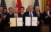 La Chine et les États-Unis ont signé l'accord économique et commercial de phase 1