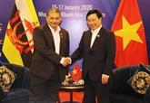 Le Vietnam et le Brunei conviennent de promouvoir un partenariat intégral