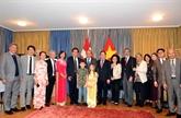 Le vice-PM Truong Hoà Binh rencontre la communauté vietnamienne en Suisse