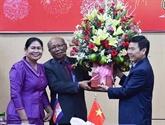 Des délégations cambodgiennes formulent des vœux du Têt à Kiên Giang