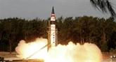 L'Inde teste avec succès un missile balistique à capacité nucléaire