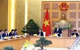 Le Premier ministre travaille avec son groupe de conseillers économiques