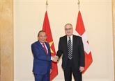 Renforcement de la coopération Vietnam - Suisse