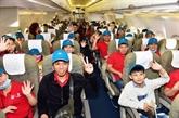 Vietnam Airlines transporte plus de 1.000 travailleurs à leur terre natale