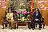 La vice-PM cambodgienne formule des vœux du Têt à Long An