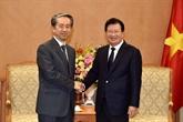Un vice-Premier ministre reçoit l'ambassadeur de Chine